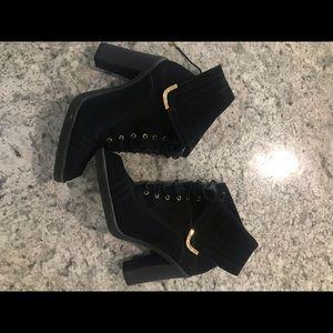 Louis Vuitton suede boots